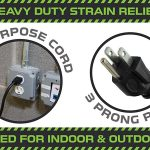 black all purpose extension cord 3 prong plug