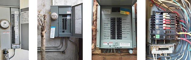 group of electrical panels