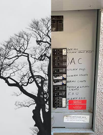 electrical panel as tree