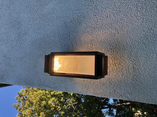 Install porch light